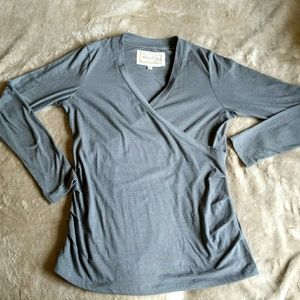 Sustainable fair trade long sleeve t shirt wrap L